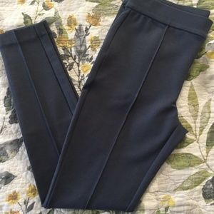 NWT Loft Charcoal Leggings in Seamed Ponte